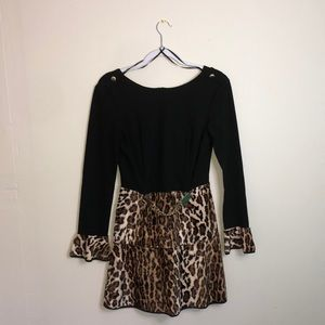 Tenax Long Sleeve Leopard Dress